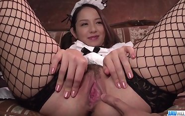 Arousing scenes be proper of dirty porn along Japan maid, Anna Mihashi