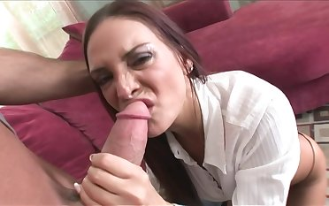 Slinky Dark Hair Cougar With Perfect Hooters  - broad in the beam penis