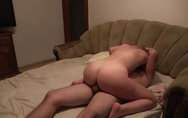 Mommy has multiple orgasms when she inveigh against cum ! Family Taboo
